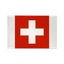 Swiss Flag Rectangle Magnet (100 pack)