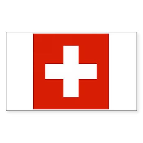 Swiss Flag Rectangle Sticker