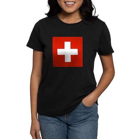Swiss Flag Women's Dark T-Shirt
