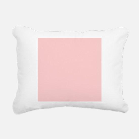modern baby pink Rectangular Canvas Pillow
