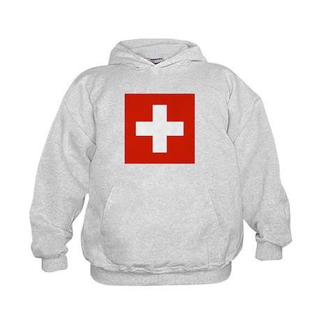 Swiss Flag Kids Hoodie