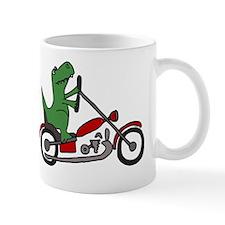 Dinosaur on Motorcycle Mug