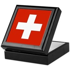 Swiss Flag Keepsake Box