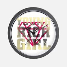 Young rich girl Wall Clock