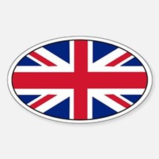 Great Britain Decals Oval Decal