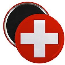 """Swiss Flag 2.25"""" Magnet (10 pack)"""