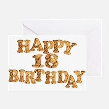18th birthday card for a cookie lover Greeting Car
