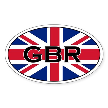 Great Britain Stickers Oval Sticker