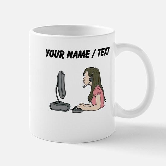 Custom Woman At Work Mugs