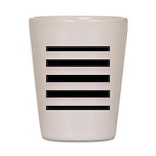 Black and White Stripes Striped Horizon Shot Glass