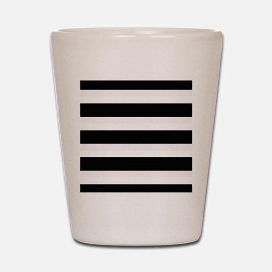 Black and White Stripes Striped Horizon Shot Glass