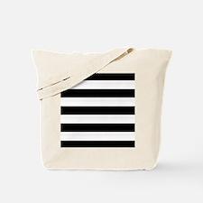 Black and White Stripes Striped Horizonta Tote Bag