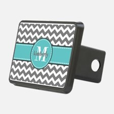 Gray and Turquoise Chevron Hitch Cover