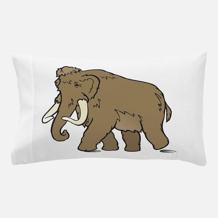 Cute Woolly Mammoth Pillow Case
