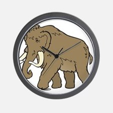 Cute Woolly Mammoth Wall Clock