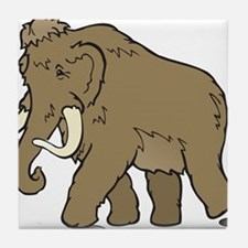 Cute Woolly Mammoth Tile Coaster