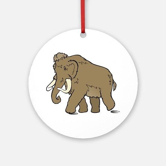 Cute Woolly Mammoth Ornament (Round)
