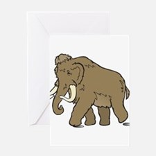 Cute Woolly Mammoth Greeting Cards