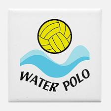 WATER POLO WAVES Tile Coaster