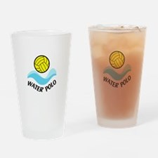 WATER POLO WAVES Drinking Glass