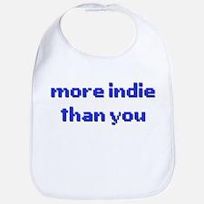 More Indie Than You 8bit Blue Bib
