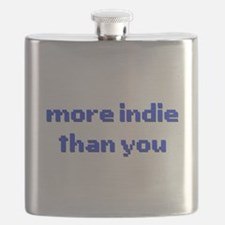 More Indie Than You 8bit Blue Flask