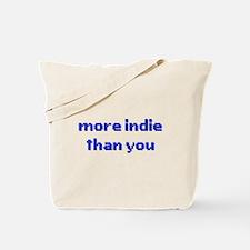 More Indie Than You 8bit Blue Tote Bag