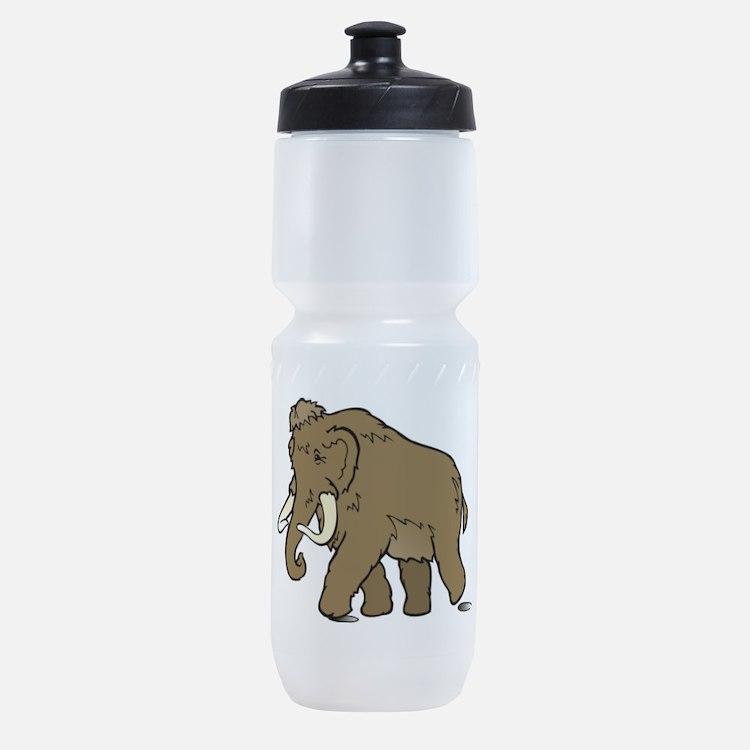 Cute Woolly Mammoth Sports Bottle