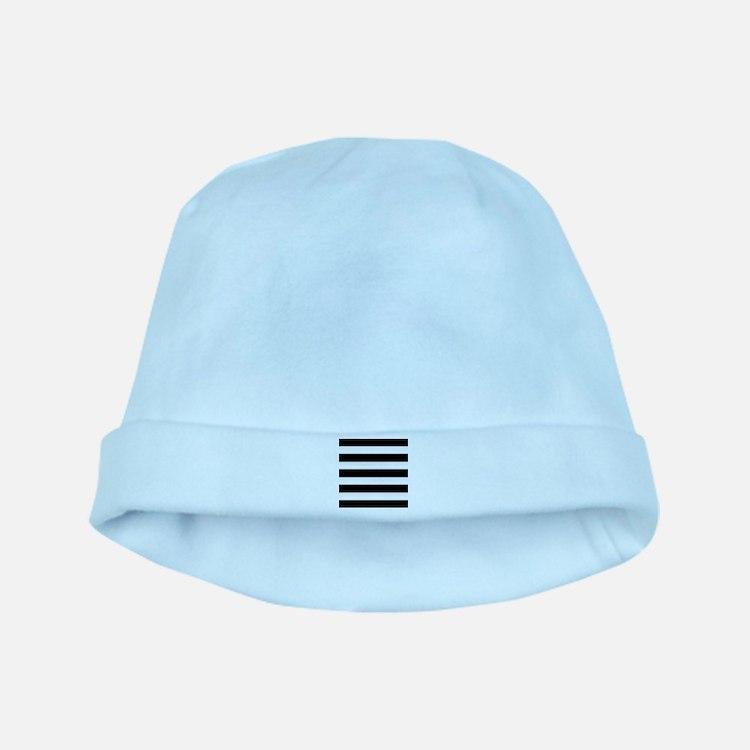 Black and White Stripes Striped Horizonta baby hat