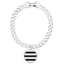 Black and White Stripes Bracelet