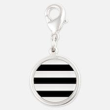 Black and White Stripes Striped Horizontal Charms