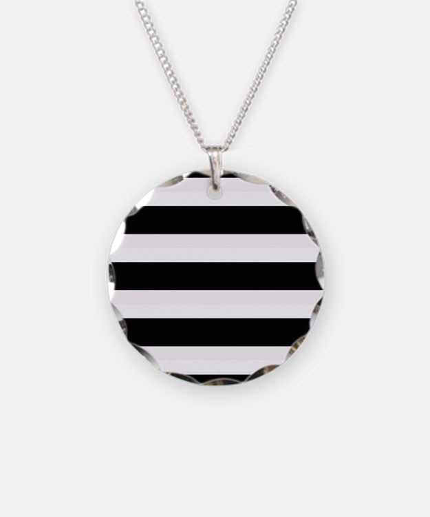 Black and White Stripes Stri Necklace