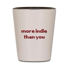 More Indie Than You 8bit Red Shot Glass