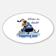 THROTTLE OUT Decal