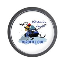 THROTTLE OUT Wall Clock