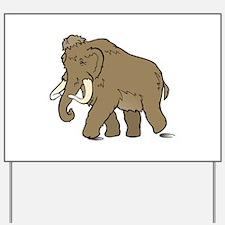Cute Woolly Mammoth Yard Sign
