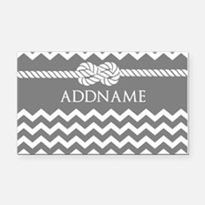 Gray and Charcoal Modern Chev Rectangle Car Magnet