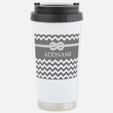 Gray and Charcoal Moder Travel Mug