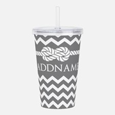 Gray and Charcoal Mode Acrylic Double-wall Tumbler