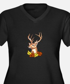 DEER HEAD Plus Size T-Shirt