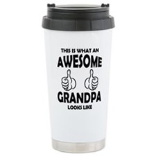 Cute Grandpa Stainless Steel Travel Mug