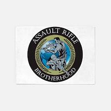 Assault Rifle Brotherhood 5'x7'Area Rug