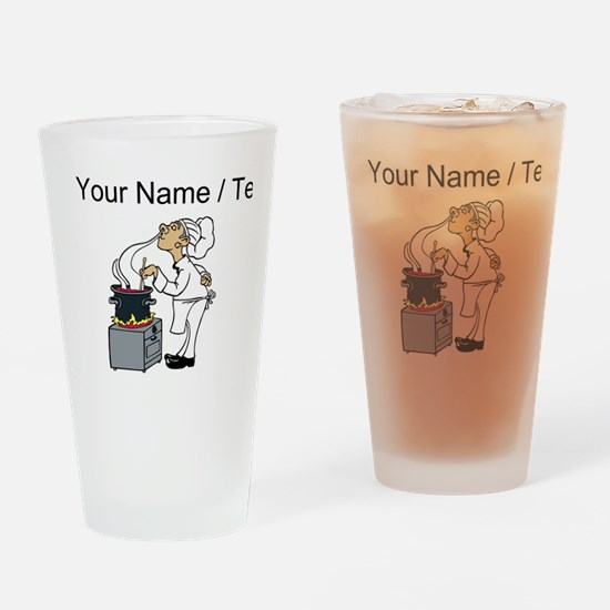 Custom Chef Cooking Drinking Glass