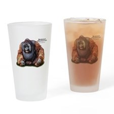 Bornean Orangutan Drinking Glass