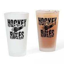 hockey104dark.png Drinking Glass