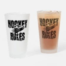 hockey104dark.png Drinking Glass