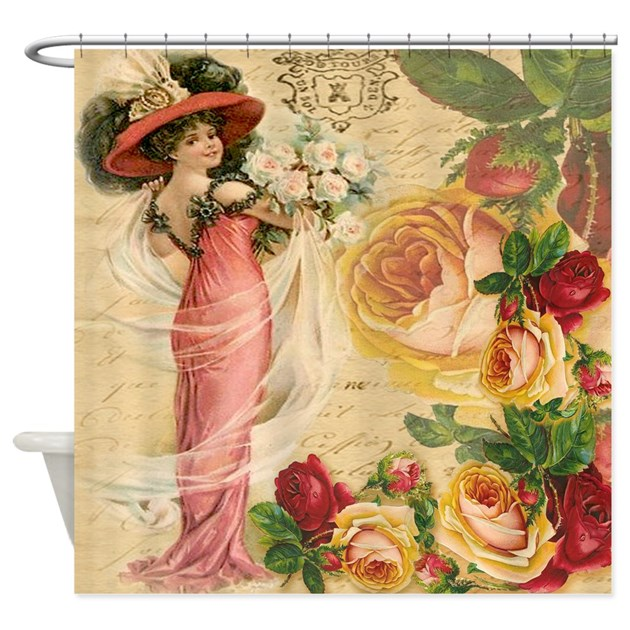 Rose Lady Shower Curtain By Studio1027