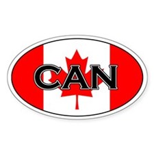 Canadian stickers Oval Decal