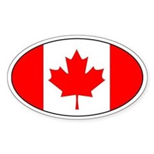canadian flag (Oval)