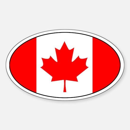 canadian flag (Oval)